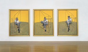 "Francis Bacon 's ""Three Studies of Lucian Freud"" (1969)/Photo courtesy: Christie's"
