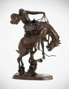 Charles M. Russell (1864–1926) A Bronc Twister bronze, 18 inches high Sold at Auction: $1,089,000