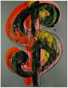 Andy Warhol's Dollar Sign, 1981 featured in the money-themed Sotheby's auction